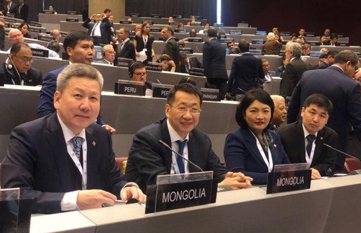 Монгол Улсын Их Хурлын төлөөлөгчид ОУПХ-ны Ассамблейн 138 дугаар чуулганд оролцож байна
