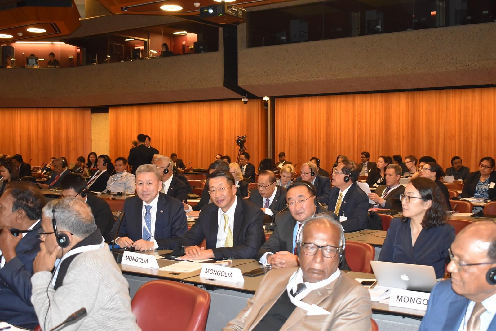 УИХ-ын дэд дарга Л.Энх-Амгалан тэргүүтэй төлөөлөгчид ОУПХ-ны Ассамблейн 139 дүгээр чуулганд оролцож байна